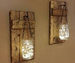 rustic decor candle holders hanging jars with lights