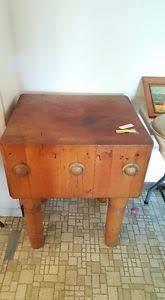 antique butcher block kitchen island saw it on craigslist heavy butcher block table