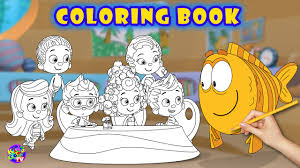 bubble guppies coloring book kidsgame tv youtube