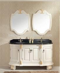 Vintage Style Vanity Table Luxury Carved Wooden Bathroom Vanity Set Style