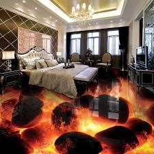 custom 3d flooring murals 3d stereo stones flame bedroom living