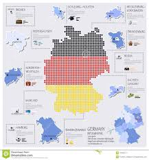 Bavaria Germany Map by Dot And Flag Map Of Germany Infographic Design Stock Vector