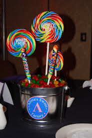 centerpieces with candy party411 events candy theme centerpieces with custom logo