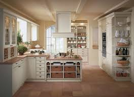 Brushed Nickel Backsplash by Beige Kitchen Cabinet Brown Countertop Rustic Kitchen Cabinet