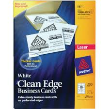 Avery Laser Business Cards Avery Laminated I D Badges Cards U0026 Clips Kit Pack Of 30 Hd Supply