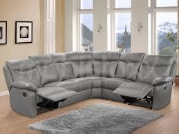 canapé d angle en cuir gris canapé d angle relax 7 places cuir gris chez mobistoxx