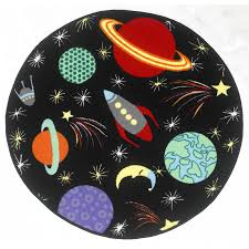 Outer Space Rug Bambino Kids Play Outer Space Rocket Worcester