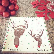 10 christmas footprint art ideas leah with love