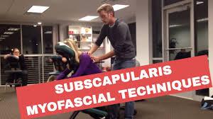 chair massage subscapularis myofascial techniques