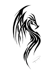 tatoo design tribal cool tribal dragon tattoo design by dragon tribal