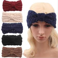 knitted headband 2018 winter new fashion women wool knitted headbands hollow out