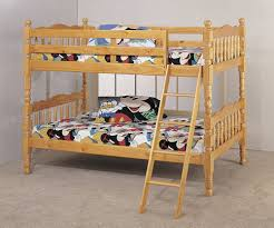 Bunk Beds Pine Bunk Bed With Ladder Pine Finish Kitchen Dining