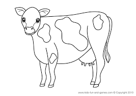 cow coloring pages ngbasic com