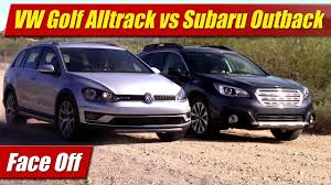 volkswagen wagon 2017 face off 2017 vw golf alltrack vs subaru outback 2 5 limited