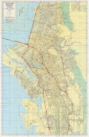 Berkeley Map Alameda California Old California State Aautomobile Association