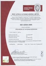 bureau veritas nigeria africa catering nigeria limited has africa catering
