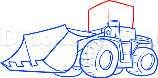 how to draw a bulldozer step by step trucks transportation