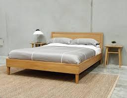 European Bed Frames Copenhagen Size Solid European Oak Bed Frame By Bent Design