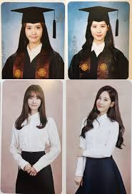 graduation photo album generation yoona and seohyun s graduation album