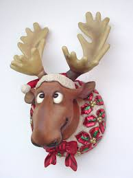 Outdoor Christmas Decorations Moose by Manificent Design Moose Christmas Decorations Amazon Com Gemmy
