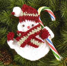 snowman holder free crochet pattern knit crochet