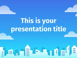 Powerpoint Template Google Slides Theme With A City Skyline Free Power Point