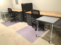 Adjustable Height Desks Ikea by Ikea Hack Custom Transforming Home Office Desks Saving Amy