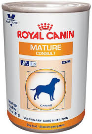 royal canin veterinary diet mature consult formula canned dog food