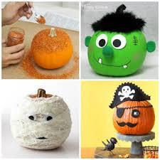 No Carve Pumpkins for Kids