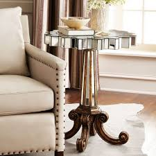 vintage gold side table antique gold finish base leg glass mirrored side table coffee