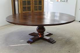 Dining Room Pedestal Tables Table Exciting 84 Reclaimed Wood Round Pedestal Table Lake And