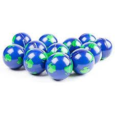 bulk lot of 2 dozen world stress balls earth stress