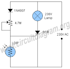 automatic night light with sensor automatic night l 230v circuit diagram
