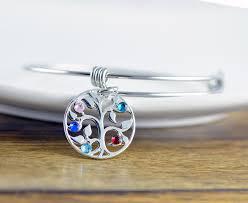 mothers bracelet silver family tree bracelet tree of bracelet birthstone