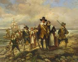 what did the pilgrims do on thanksgiving edward percy moran american artist 1862 1935 pilgrim u0027s landing
