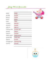Free Baby Shower Scramble Games - baby word scramble baby shower ideas
