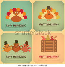 vector posters and cards s thanksgiving day set on