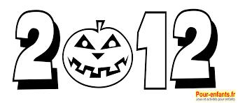 halloween 2012 dessin date à imprimer dessins citrouille coloriage
