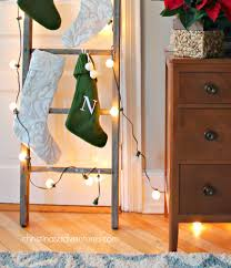 how to hang stockings on a ladder christinas adventures