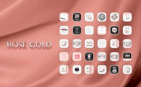 hd rose gold widgetpack theme android apps on google play