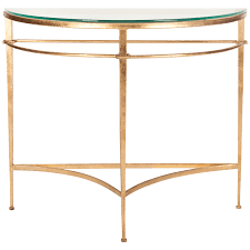 rahul gold metal console table