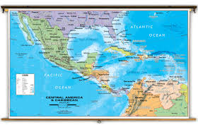 Panama World Map by Central America U0026 Caribbean Political Classroom Map From Academia Maps