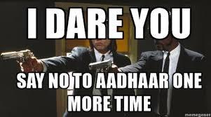 Gentleman Meme - card please to laugh at these memes aadhaar is mandatory