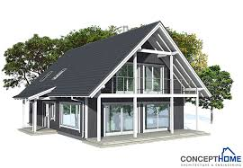 building plans houses small house plan ch137 in nordic architectural style