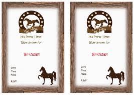 horse birthday invitations plumegiant com