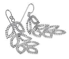 silver chandelier earrings leaf chandelier earrings in sterling silver blue nile