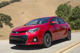 red toyota 2014 toyota corolla first look motor trend
