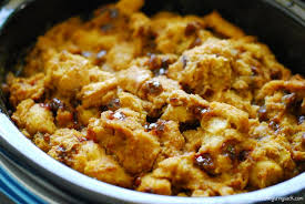 cooker pumpkin pecan bread pudding