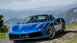 cars ferrari blue 2016 ferrari 488 spider review and road test with horsepower