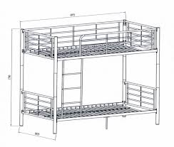 Bunk Beds  Standard Bunk Bed Height Bunk Bed Dimensions How Much - Height of bunk beds